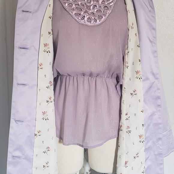Arden B Jackets & Blazers - ArdenB. Light Weight Purple Satin Women Coat SizeS